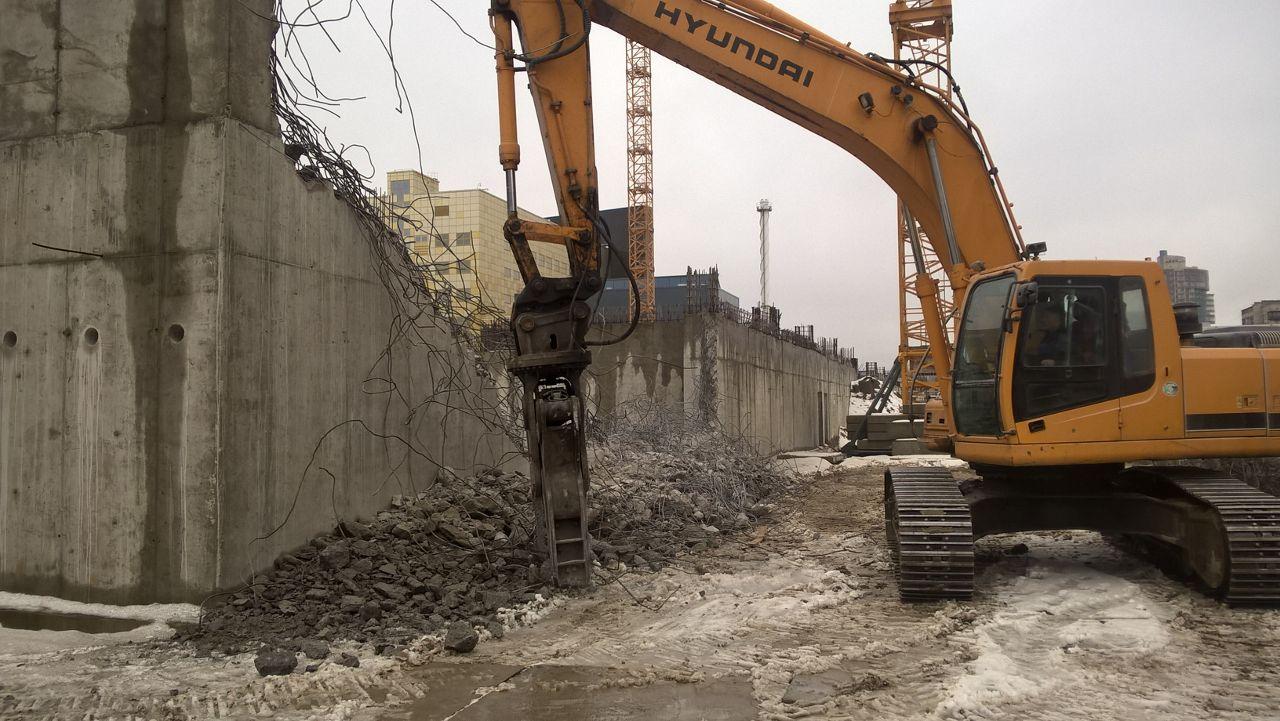 Демонтаж здания из железобетона