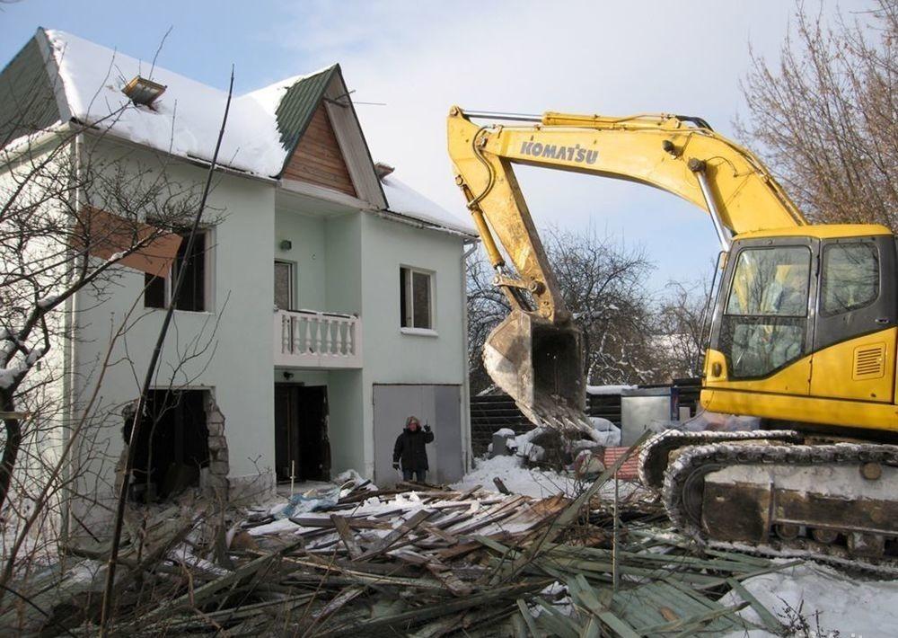Демонтаж частных домов, коттеджей, построек и гаражей